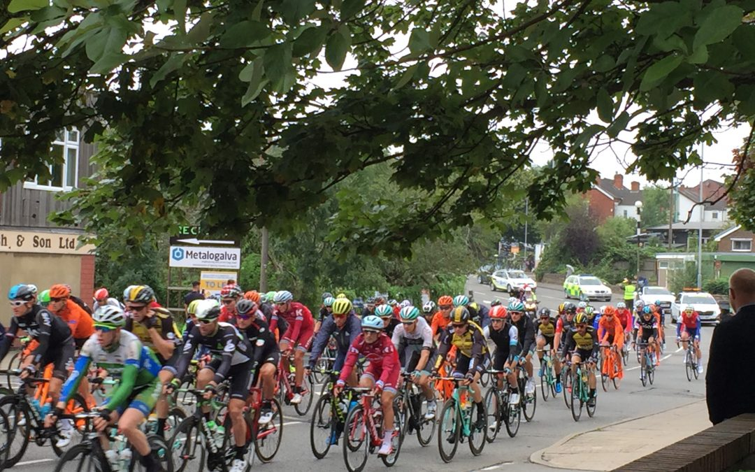 Tour of Britain passes the Hoot Fire & Security Office