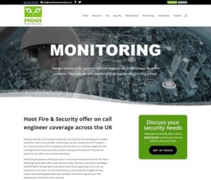 website monitoring page